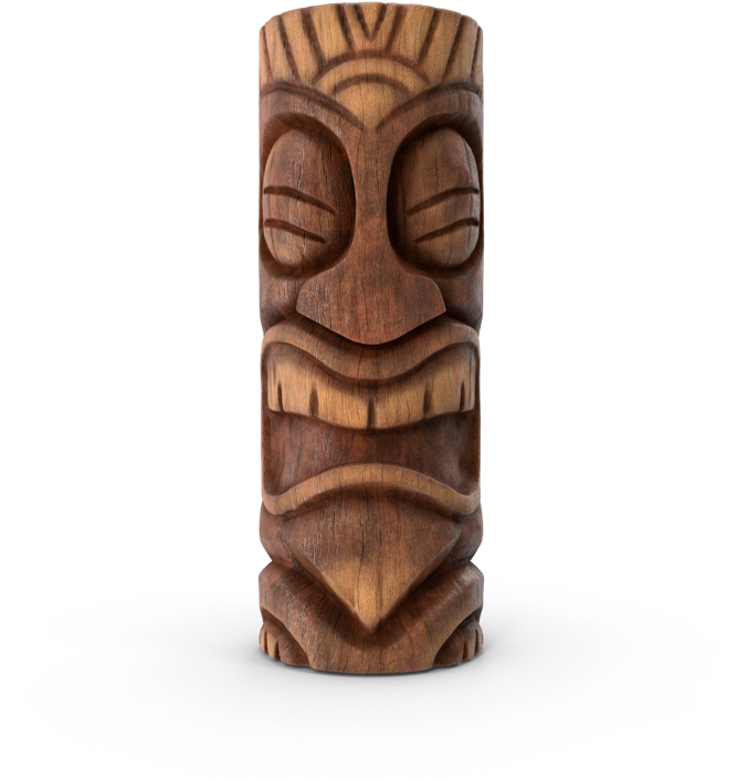A big tiki head